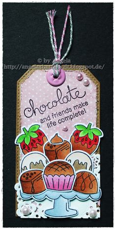Angelas Bastelwelt: ♥ Chocolate and friends make life complete ♥ Love & Chocolate stamp set by Newton's Nook Designs #newtonsnook