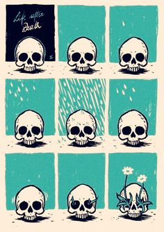 Life after death.  If my body feeds the plants and animals ~  we live and live and live