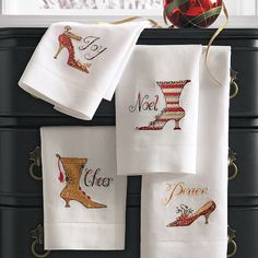 Set of Four Holiday Shoe Hand Towels was $34.00 now $19.00