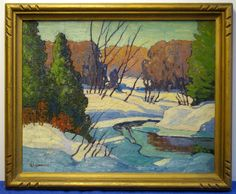 WINTER STREAM - Robert Lee CHADWICK (1905- 1971) -Large