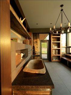 rustic laundry room by birdseye design