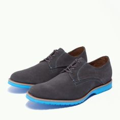 Dark Gray // Bright Blue Would love to wear these at my wedding