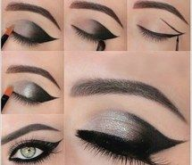 Inspiring image black, eyebrows, eyes, girl, liner, makeover, makeup, shades, shimmery, silver, smoky #3487468 by marine21 - Resolution 500x499px - Find the image to your taste