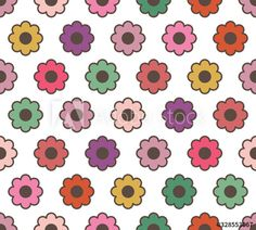 Vector background with flowers and leaves. - Buy this stock vector and explore similar vectors at Adobe Stock Vector Background, Design Inspiration, Kids Rugs, Cute, Pattern, Floral Flowers, Color Palettes, Stuff To Buy, Adobe