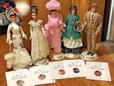 4 Barbie Dolls 1 Ken- My Fair Lady Collector Edition with Original Stands & COA Mattel Dolls, Ooak Dolls, Barbie Family, My Fair Lady, Barbie Collector, Audrey Hepburn, Vintage Dolls, My Ebay, Royalty