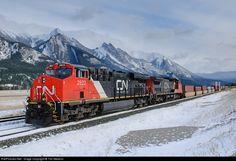 RailPictures.Net Photo: CN 2823 Canadian National Railway GE ES44AC at Jasper, Alberta, Canada by Tim Stevens