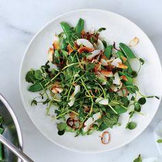 Snap Pea Salad with Coconut Gremolata Recipe