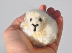 Needle Felted Sheep Fluff Ball, 100% Wool, Real Sheep's Wool Curly Locks by 221BFelterStreet on Etsy