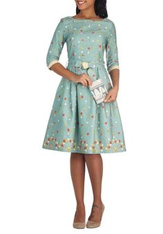 #modcloth I love the long sleeves, and the adorable self-belt!