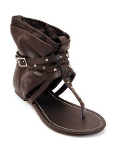 Womens Gladiator Sandals, Ankle Wrap Flats with Buckle Straps & Stud Detail Design (8, Black)  L & C , http://www.amazon.com/dp/B0054MB54O/ref=cm_sw_r_pi_dp_knZFpb022JTB7