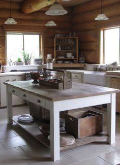 Rustic yet modern kitchen island