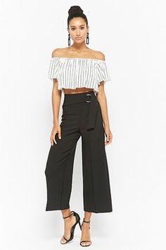 Belted High-Rise Culottes