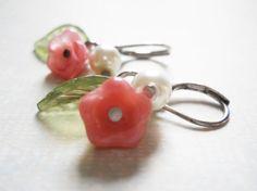 for me! -->Flower Girl Earrings Flower Girl Pink Earrings by PearlyJaneBridal, $12.00