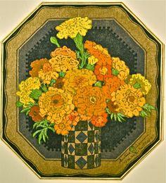 Marigolds by Gustave Baumann