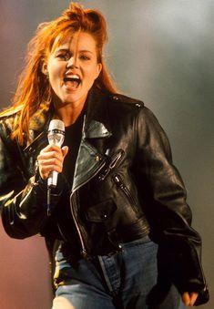 Belinda rocking out in 1988