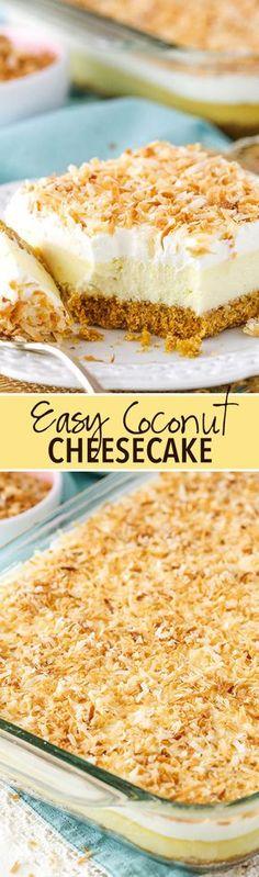 Easy Coconut Cheesecake