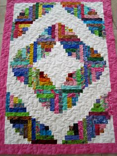 curved log cabin quilts - Google Search