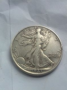 1940s VF Walking Liberty Silver half dollar by DrewsCollectibles