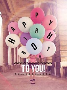 Happy Birthday To You greeting balloons
