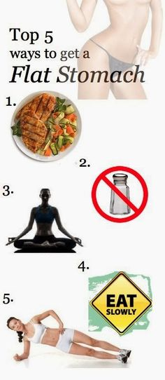 The Belly Fat Blog: Infographic: Top 5 Ways to Get a Flat Stomach