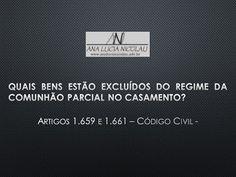 Ana Lucia Nicolau - Advogada: Regime de bens no casamento -
