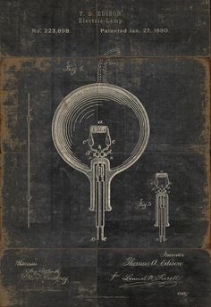 Edison patent from 1880.
