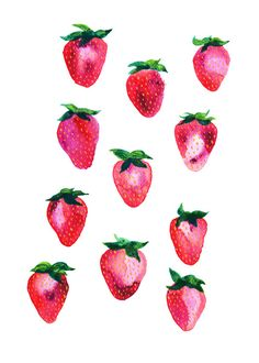 Strawberries print