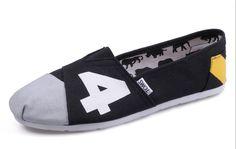 Cheap Toms Black grey men shoes sale