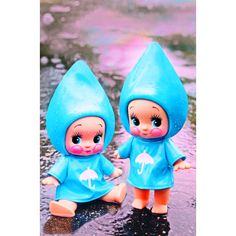 raindrop kewpie print 5 x 7 PITTER AND PATTER by boopsiedaisy