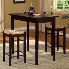 Linon Home 3-Piece Tavern Counter Set at bed bath and beyond