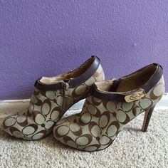 Authentic coach high heels Authentic coach heels, worn once, so cute Coach Shoes Heels