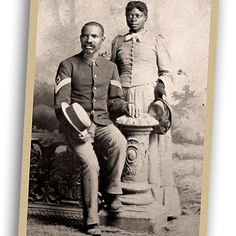 A few soldiers managed to escape the impersonal life in the barracks by rising as non-commissioned officers, which meant they, like this first sergeant at right, could take a wife. For the most part, frontier soldiers were bachelors.