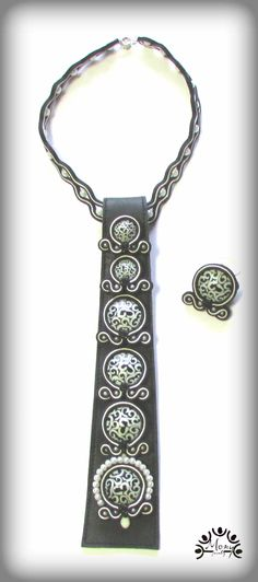 A leather tie with my soutache!
