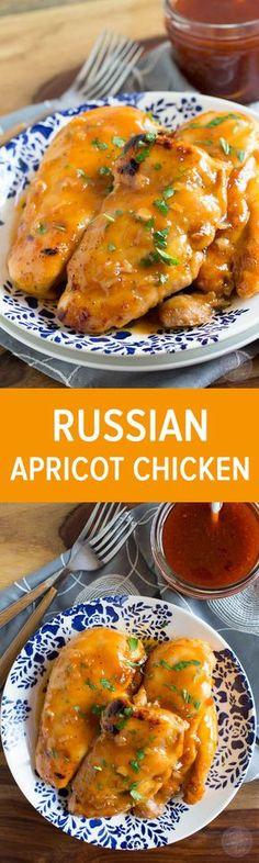 Russian apricot chicken.