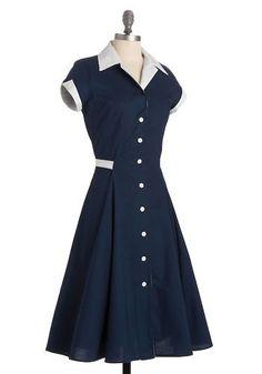 40s style blue dress