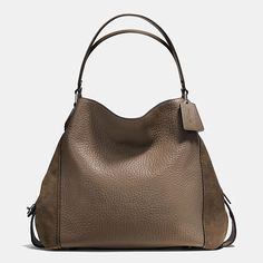 d1f5558389 Edie Shoulder Bag 42 in Mixed Leathers Sacs Coach