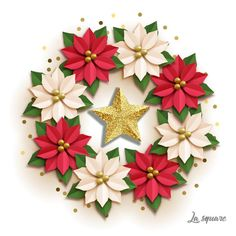 NEW Christmas paper flower backdrop template SVG Pdf Jpg Png Christmas Leaves, Christmas Flowers, Christmas Paper, Christmas Crafts, Christmas Decorations, Etsy Christmas, Crochet Christmas, Christmas Angels, Leaf Template