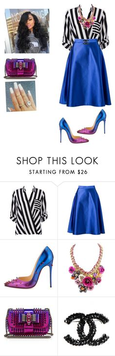 """Youth Sunday!"" by cogic-fashion ❤ liked on Polyvore featuring Wallis, Vitorino Campos and Christian Louboutin"