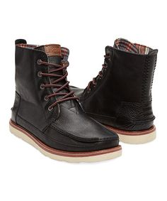 Love this Black Leather Classics Searcher Boot on #zulily! #zulilyfinds