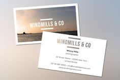 Check out Windmills business card by tamarahoutveen on Creative Market