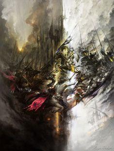 Frontline illustration from Final Fantasy XIV: A Realm Reborn