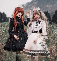 LolitaWardtobe - Bring You the latest Lolita dresses, coats, shoes, bags etc from Trustworthy Taobao indie Brands. We never resell Lolita items from untrustworthy Taobao stores. Harajuku Fashion, Kawaii Fashion, Japanese Street Fashion, Asian Fashion, Rock Fashion, Moda Lolita, Looks Dark, Witch Outfit, Lolita Cosplay