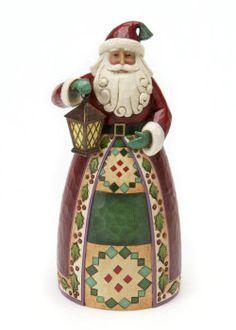 Jim Shore - such a cute Santa