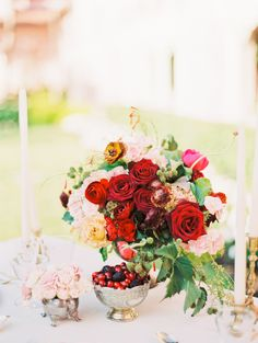 Red Wedding Inspiration at Boca Raton Resort & Club Glamorous Wedding, Red Wedding, Wedding Flowers, Elegant Flowers, Beautiful Flowers, Red Flowers, Red Roses, Wedding Table Centerpieces, Wedding Decorations