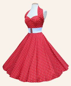 #racingstyle Dress Inspiration: This dress reminds me of strawberries, spring, picnics and is in traditional pin-up style. It would be perfect with a large sun hat and some glasses.