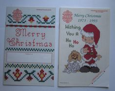 Christmas Cross Stitch Patterns 2 Booklets Gloria and Pat