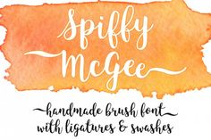 This Font is a clean and typical free Font for cards, greeting and invitation cards even poster and many more purposes. Spiffy McGee is a handmade brush font with ligatures and swashes. Try it out today! Hand Lettering Fonts, Calligraphy Fonts, Typography Fonts, Funky Fonts, Cool Fonts, Pretty Fonts, Beautiful Fonts, Tombow Brush Pen, Free Fonts For Designers