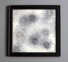 Sea Urchins I Original mono print lino print