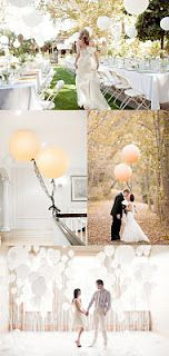 One of my bridal couples for next year has expressed an interest in balloons - so here is the inspiration I've come up with so far...