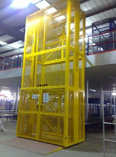 Cargo lift covered by steel mesh works with good safety and efficiency. http://www.mornlift.com/vertical-lift/lead-rail-lift.html